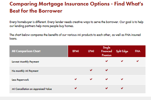 Mortgage Insurance Options
